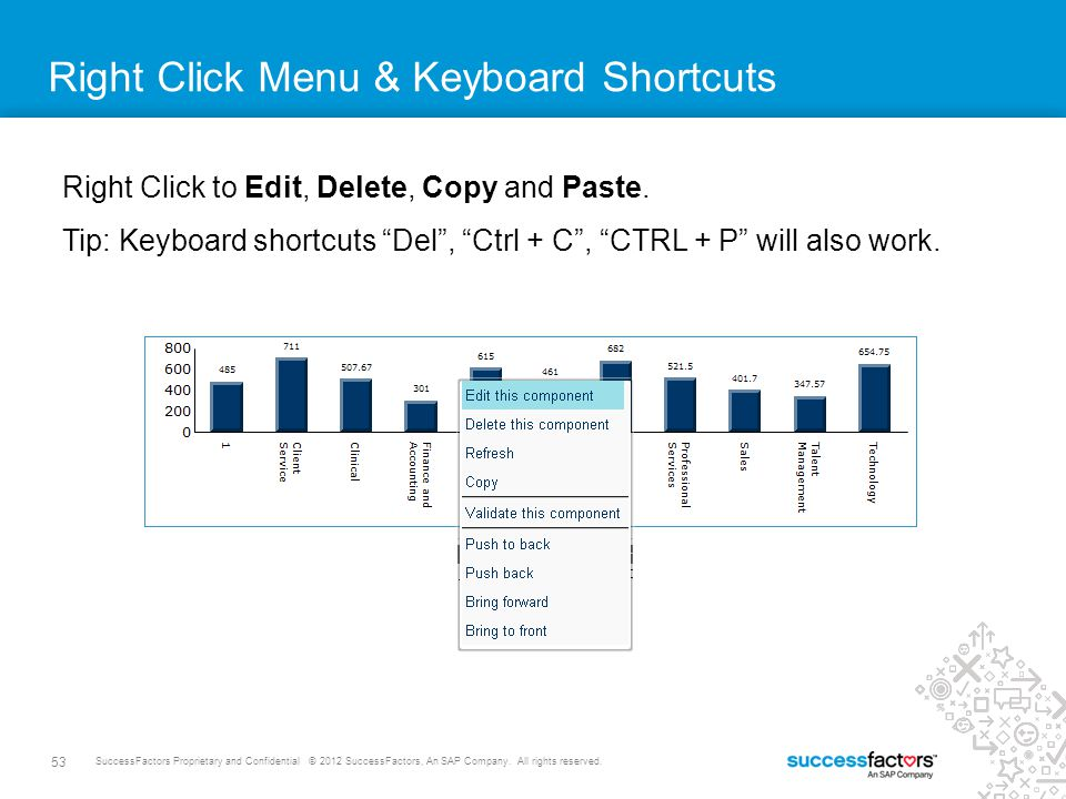 Right Click Menu & Keyboard Shortcuts
