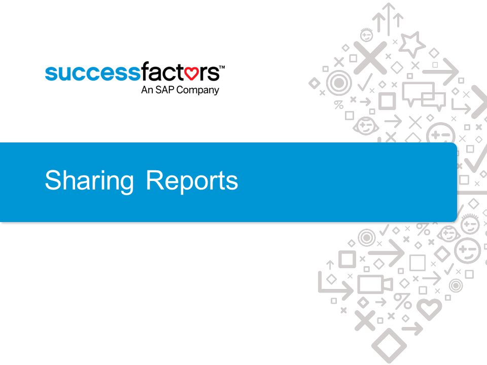 Sharing Reports