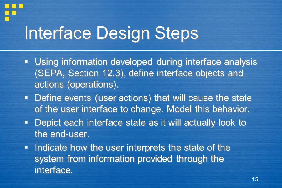 Interface Design Steps
