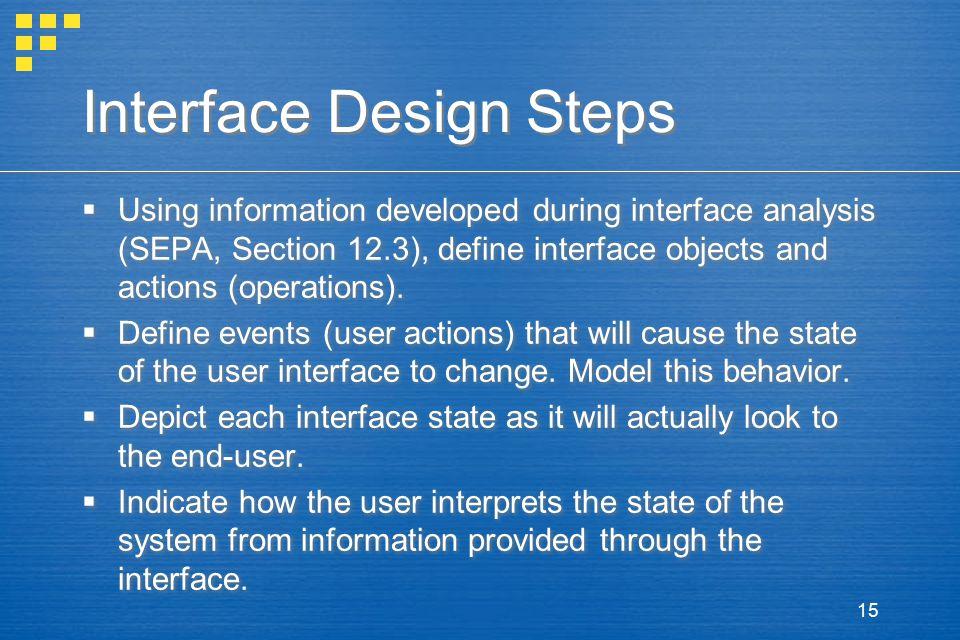 Interface Design Steps