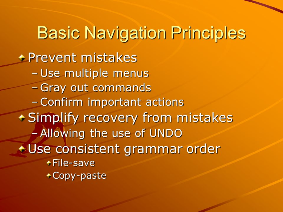 Basic Navigation Principles