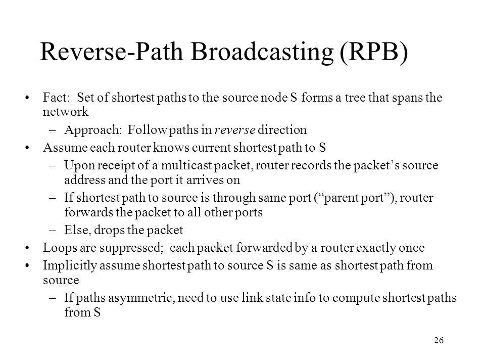 Reverse-Path Broadcasting (RPB)