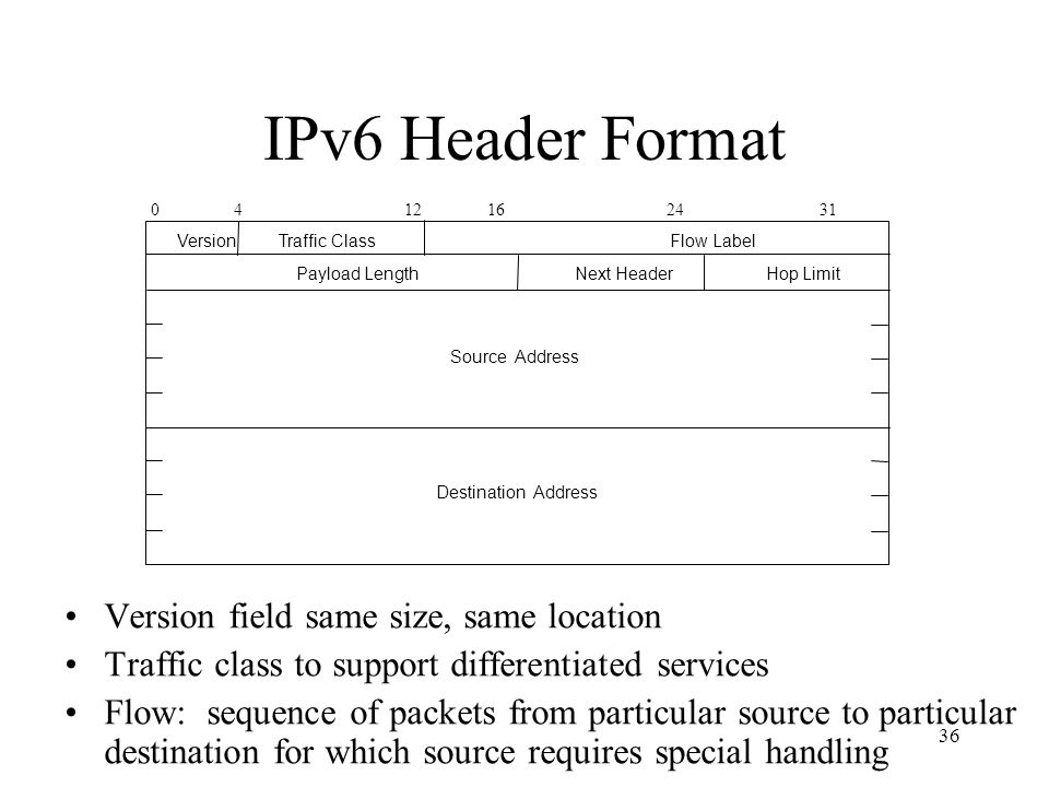 Payload Length Next Header Hop Limit