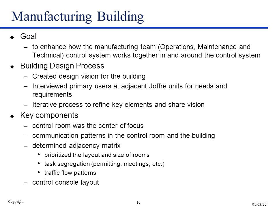 Manufacturing Building
