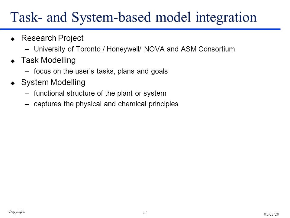 Task- and System-based model integration