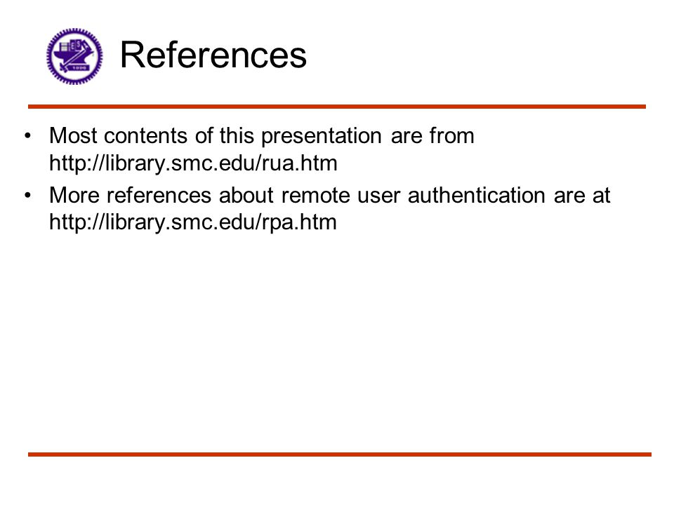 References Most contents of this presentation are from http://library.smc.edu/rua.htm.