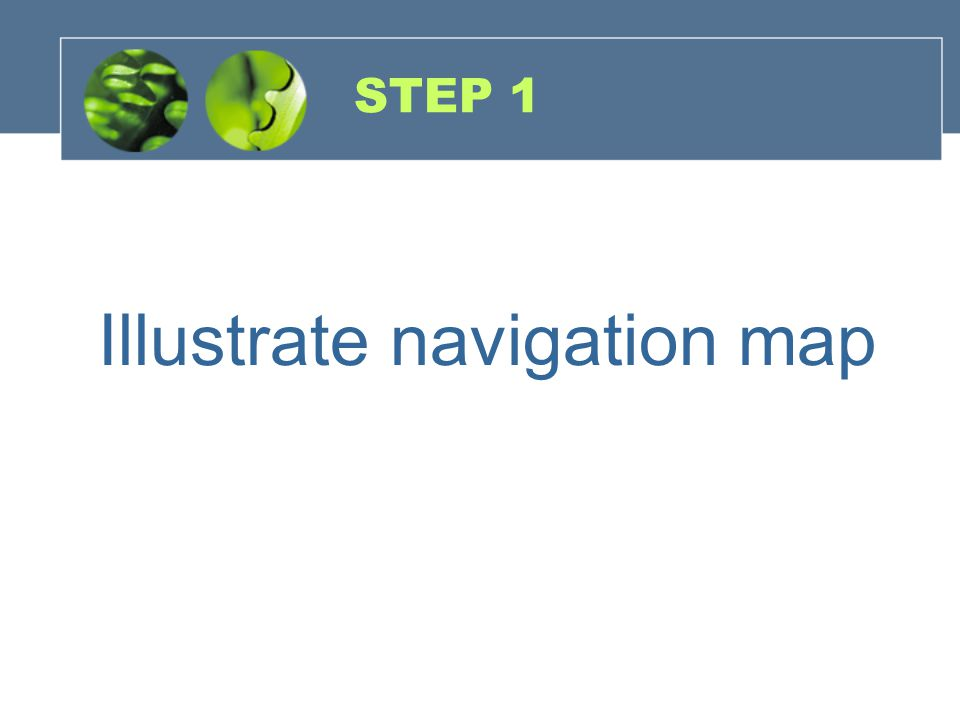 Illustrate navigation map