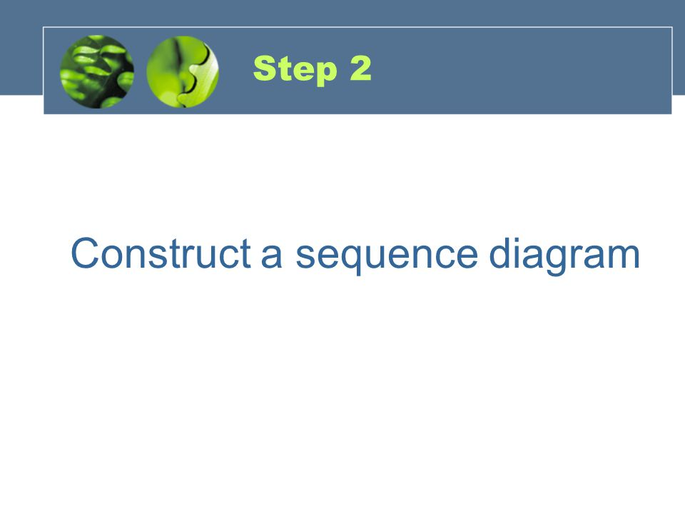 Construct a sequence diagram