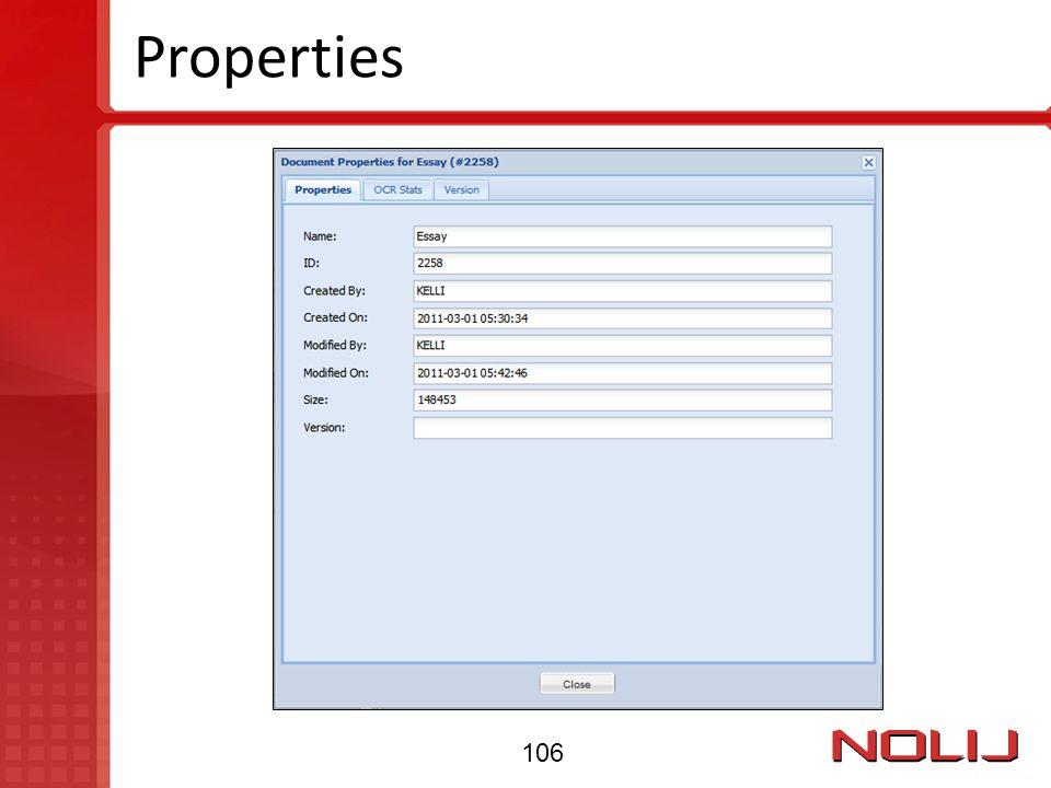 Properties 106