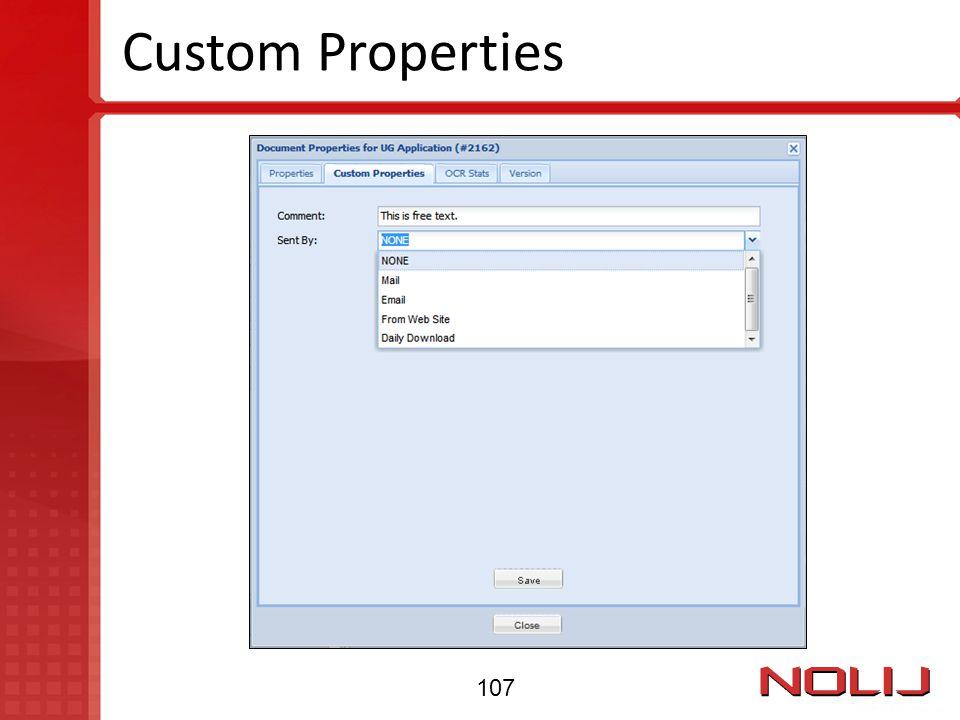 Custom Properties 107