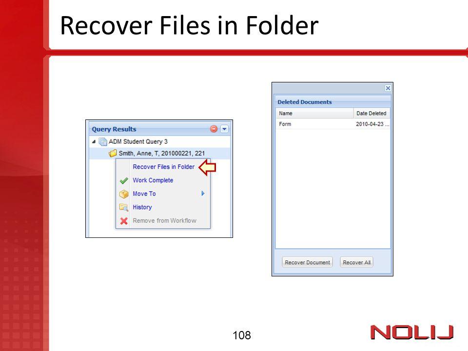 Recover Files in Folder