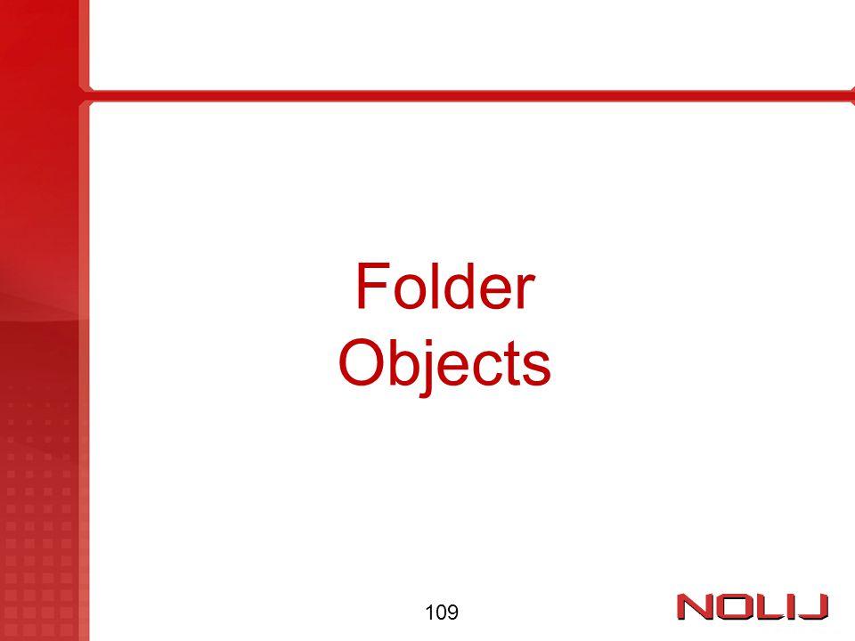Folder Objects 109