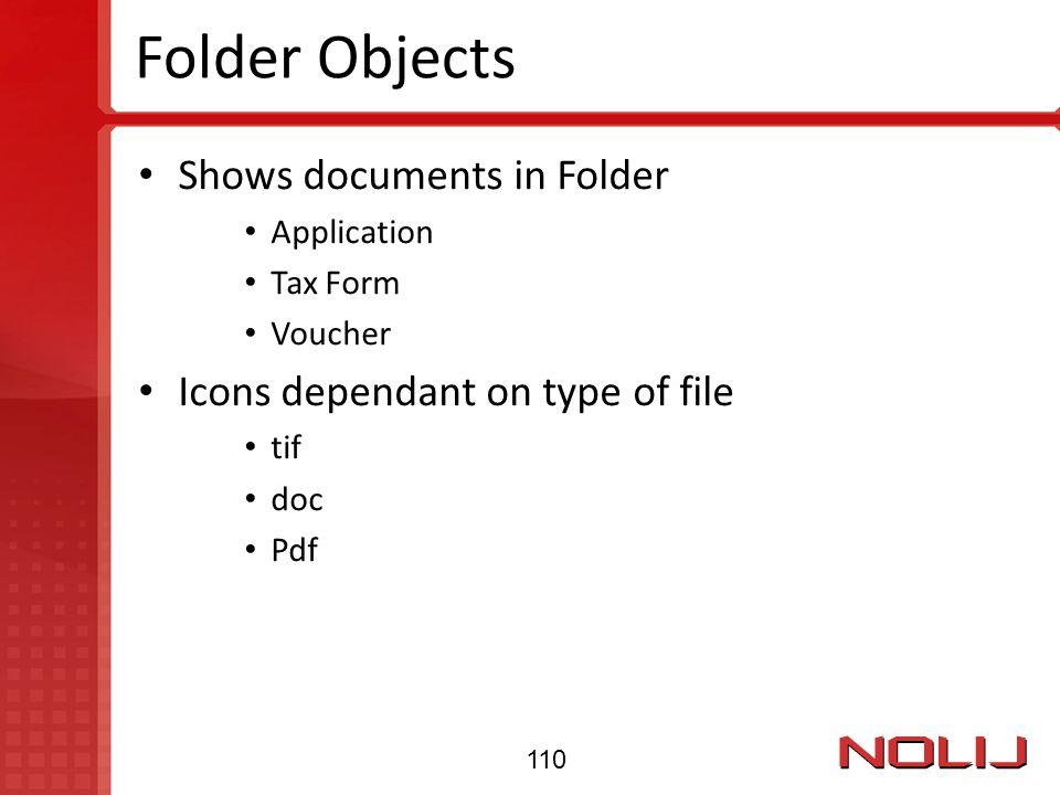 Folder Objects Shows documents in Folder