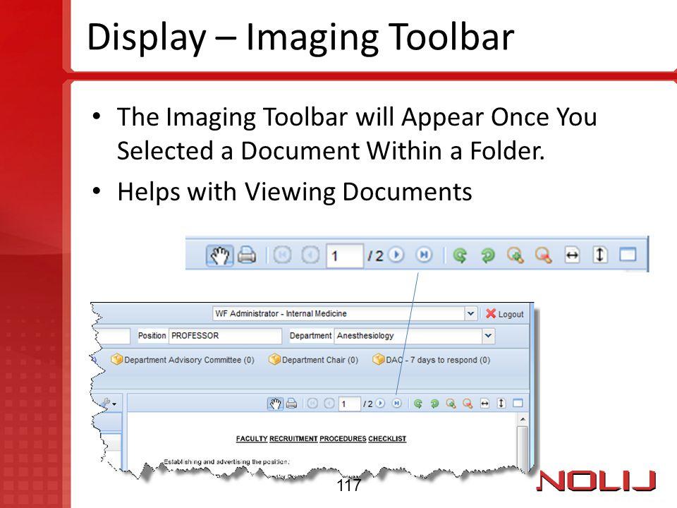 Display – Imaging Toolbar