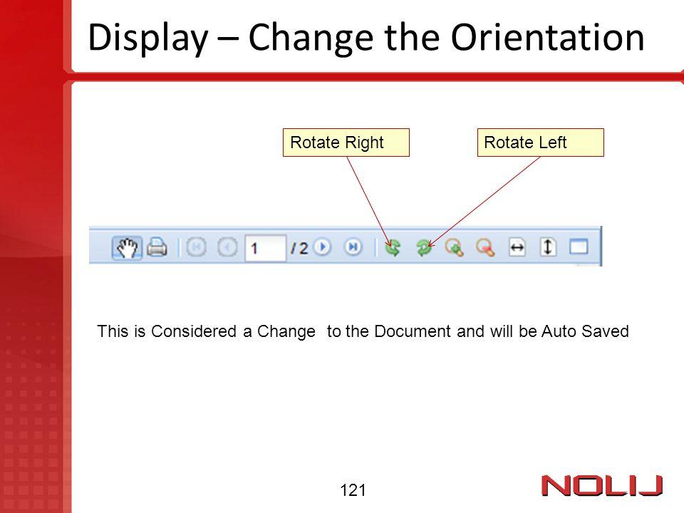Display – Change the Orientation