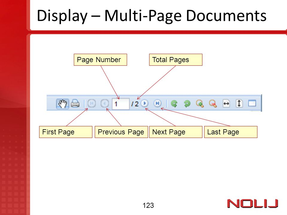 Display – Multi-Page Documents