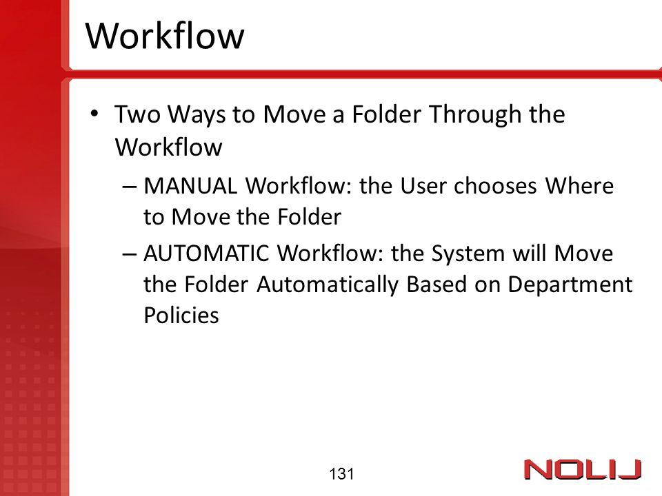 Workflow Two Ways to Move a Folder Through the Workflow