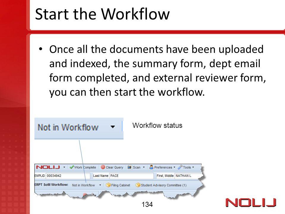 Start the Workflow