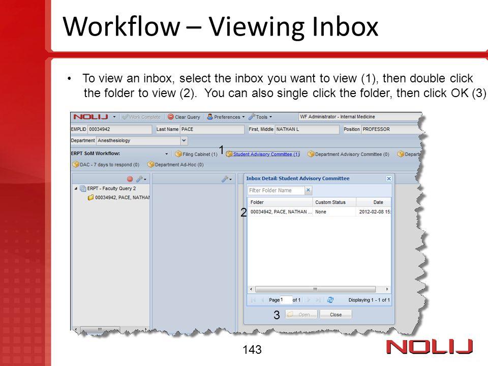 Workflow – Viewing Inbox
