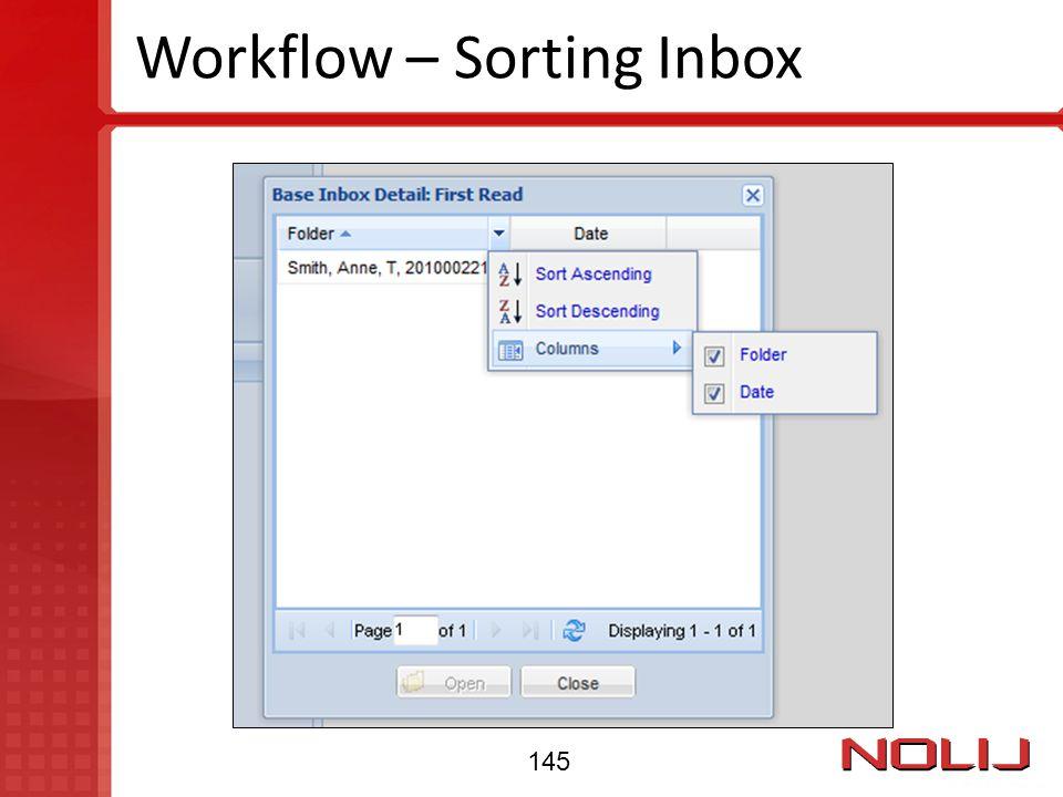 Workflow – Sorting Inbox