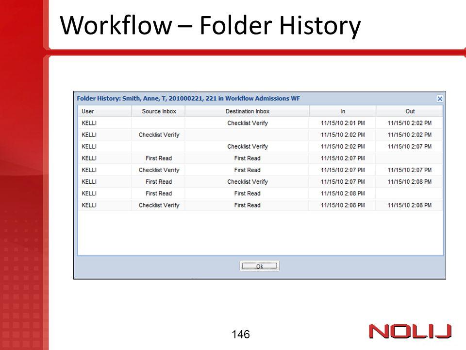 Workflow – Folder History