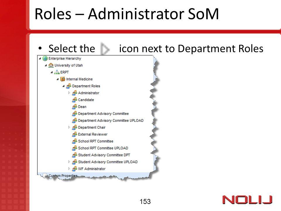 Roles – Administrator SoM