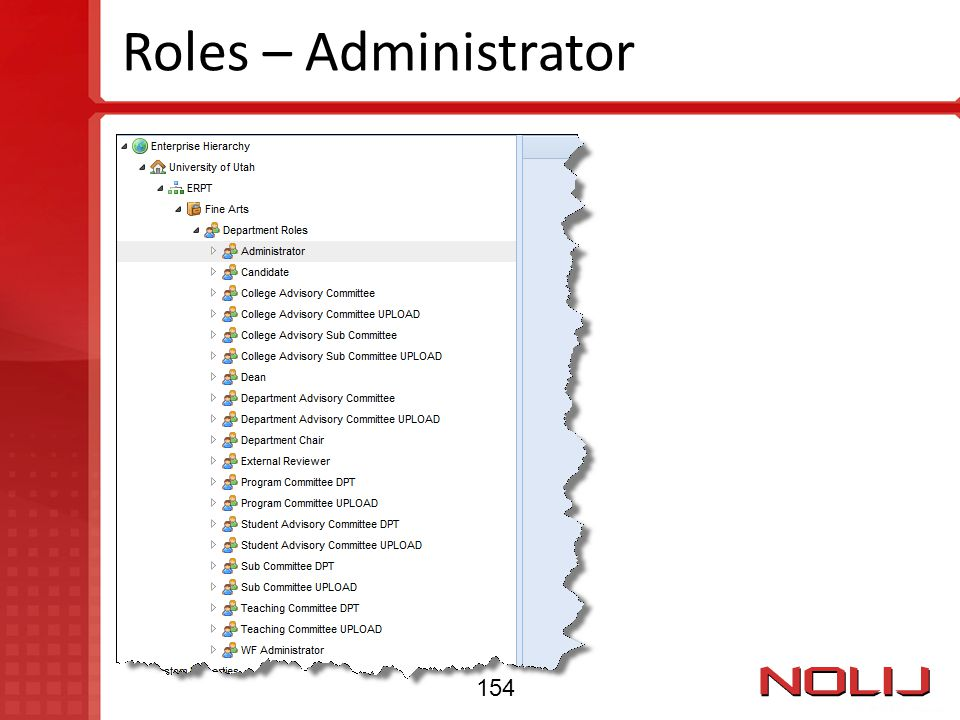 Roles – Administrator 154