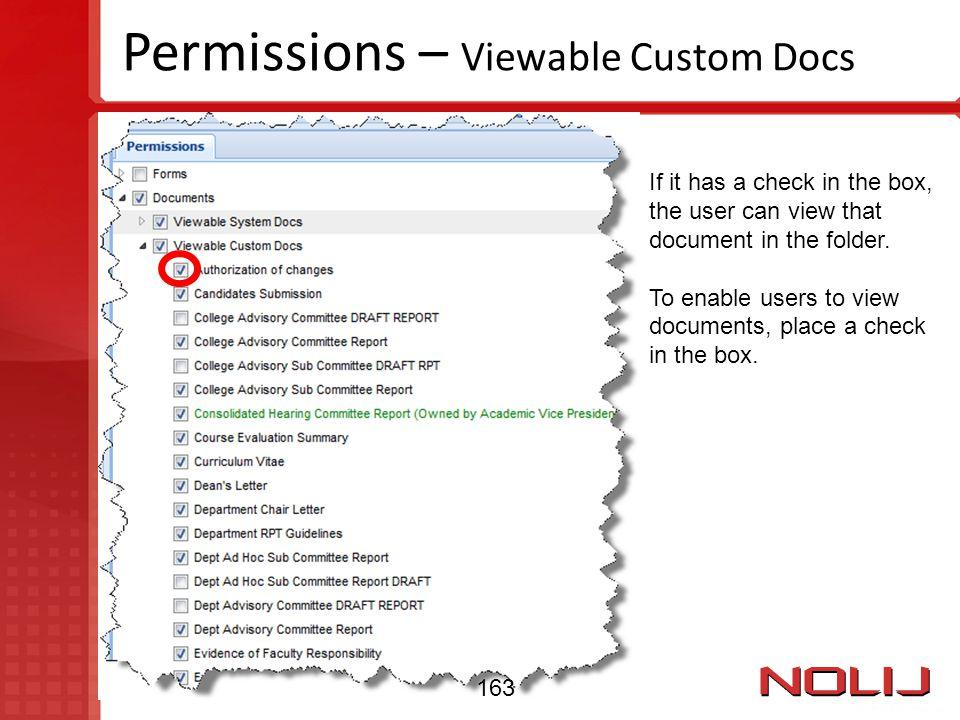 Permissions – Viewable Custom Docs