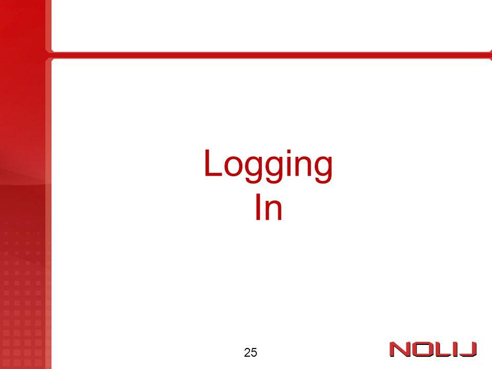 Logging In 25