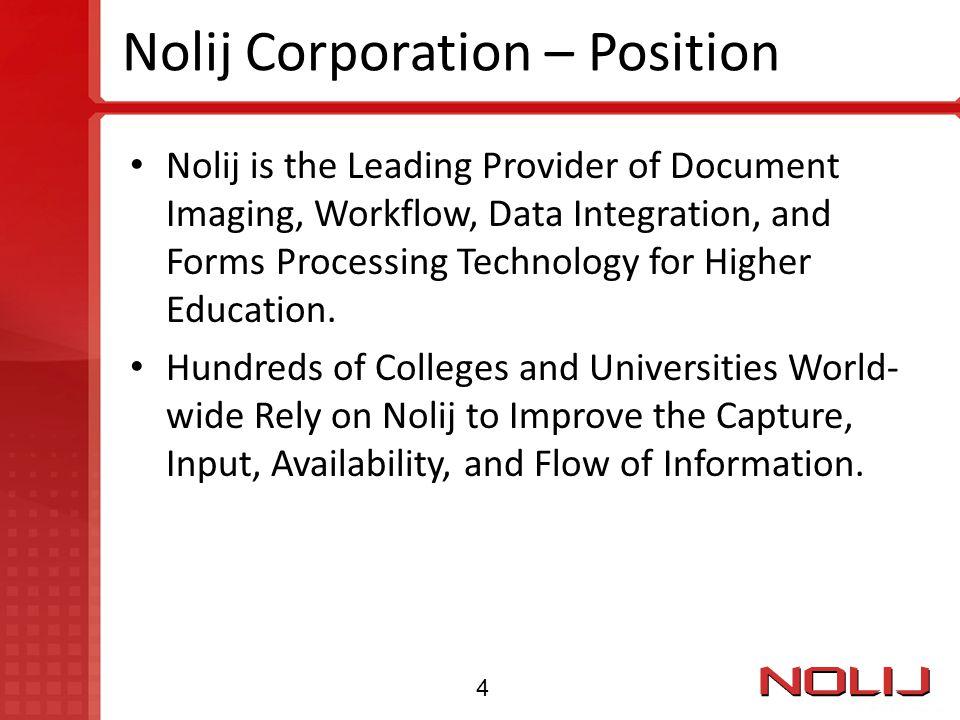 Nolij Corporation – Position