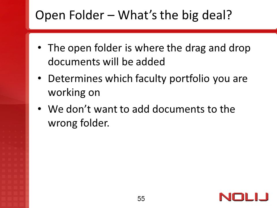 Open Folder – What's the big deal
