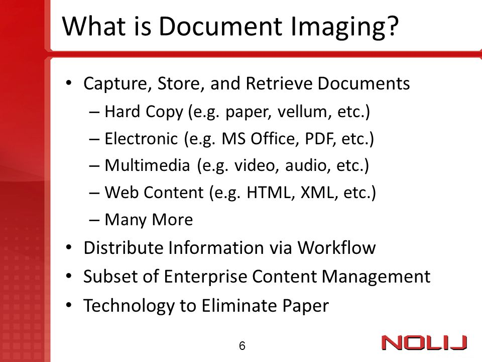 What is Document Imaging