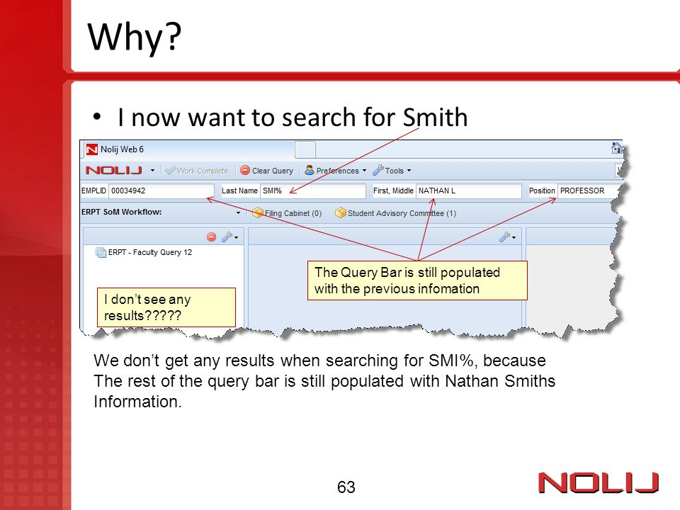 Why I now want to search for Smith