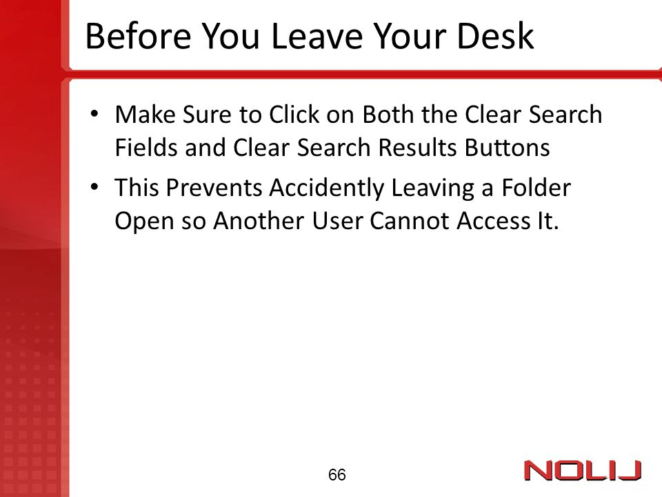 Before You Leave Your Desk
