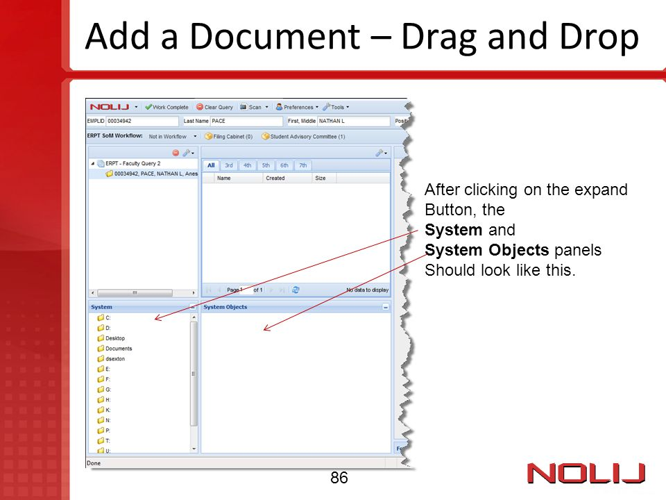 Add a Document – Drag and Drop