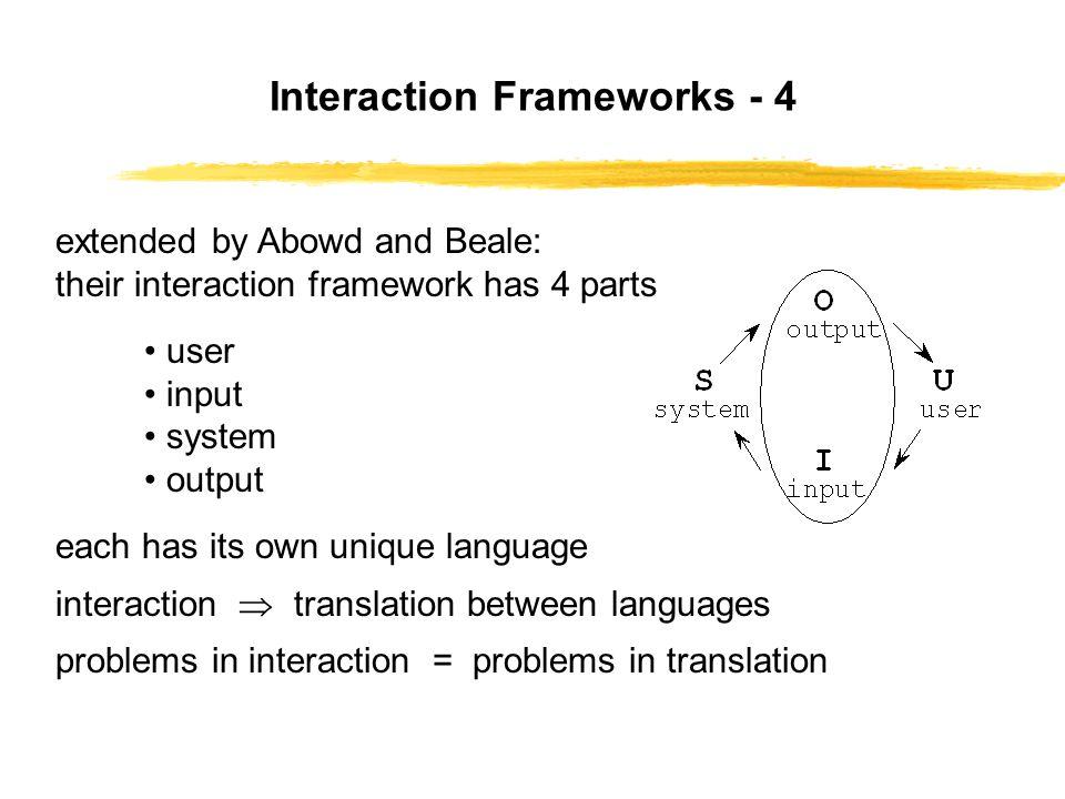 Interaction Frameworks - 4