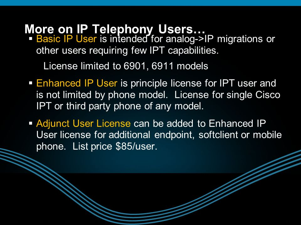 More on IP Telephony Users…