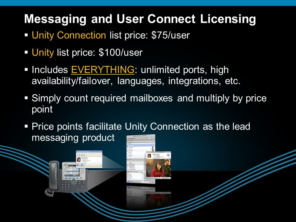 Messaging and User Connect Licensing