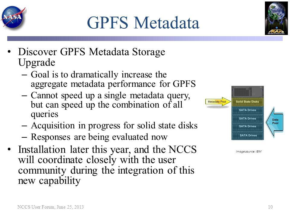 GPFS Metadata Discover GPFS Metadata Storage Upgrade