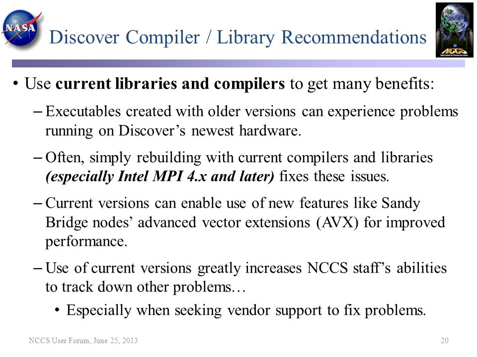 Discover Compiler / Library Recommendations