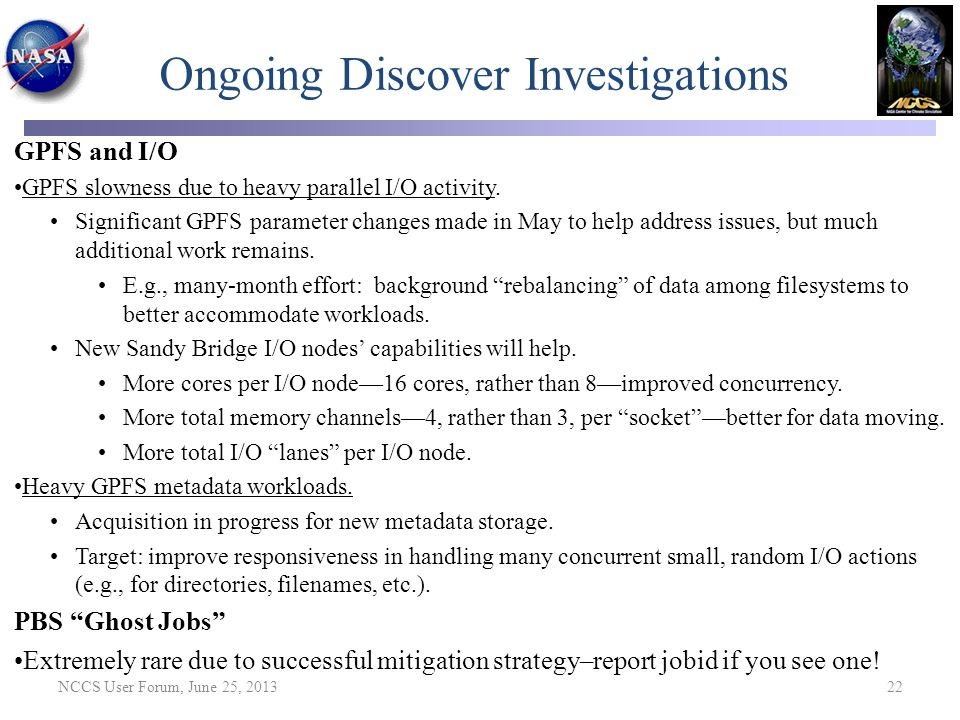 Ongoing Discover Investigations