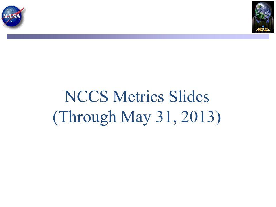 NCCS Metrics Slides (Through May 31, 2013)