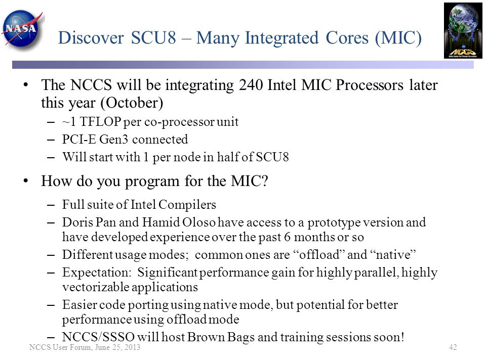 Discover SCU8 – Many Integrated Cores (MIC)