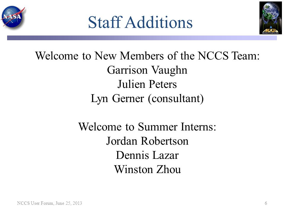 Staff Additions