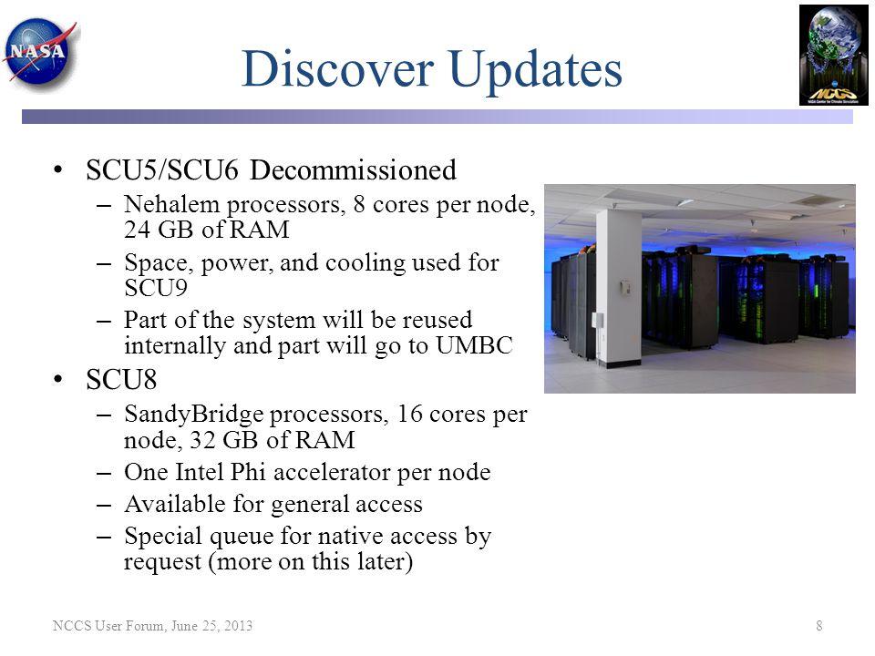 Discover Updates SCU5/SCU6 Decommissioned SCU8