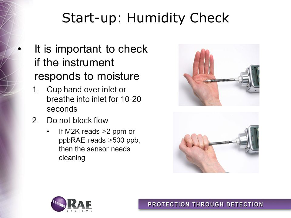 Start-up: Humidity Check