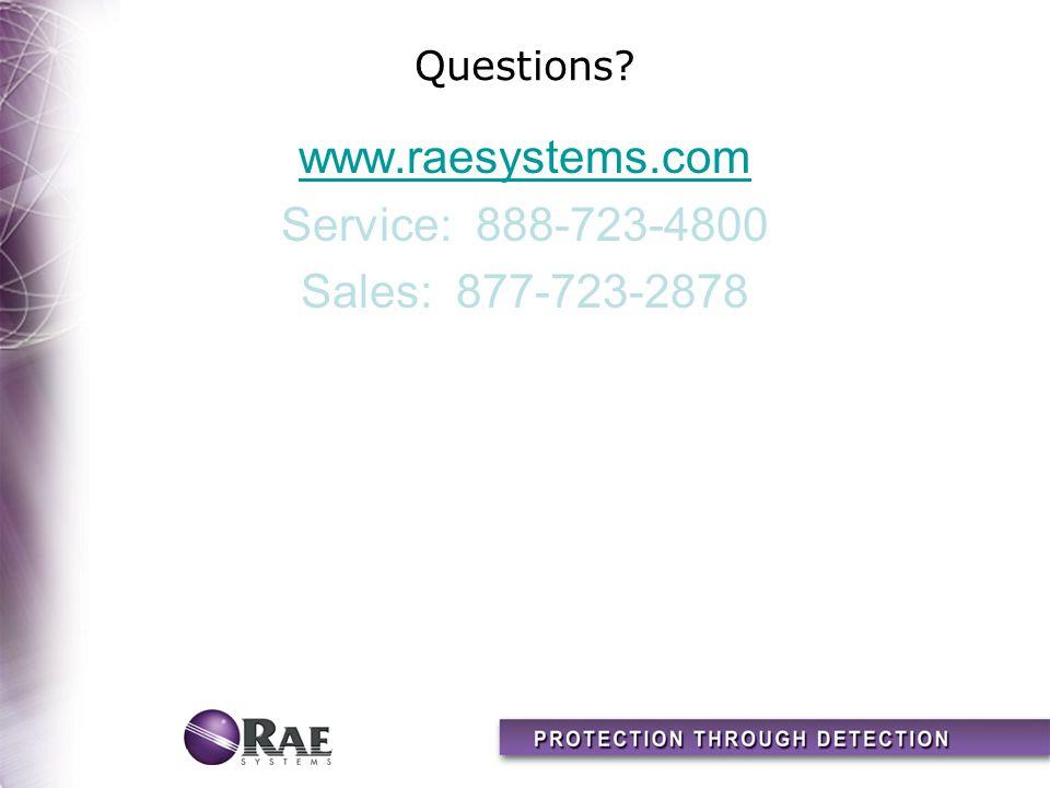 www.raesystems.com Service: 888-723-4800 Sales: 877-723-2878