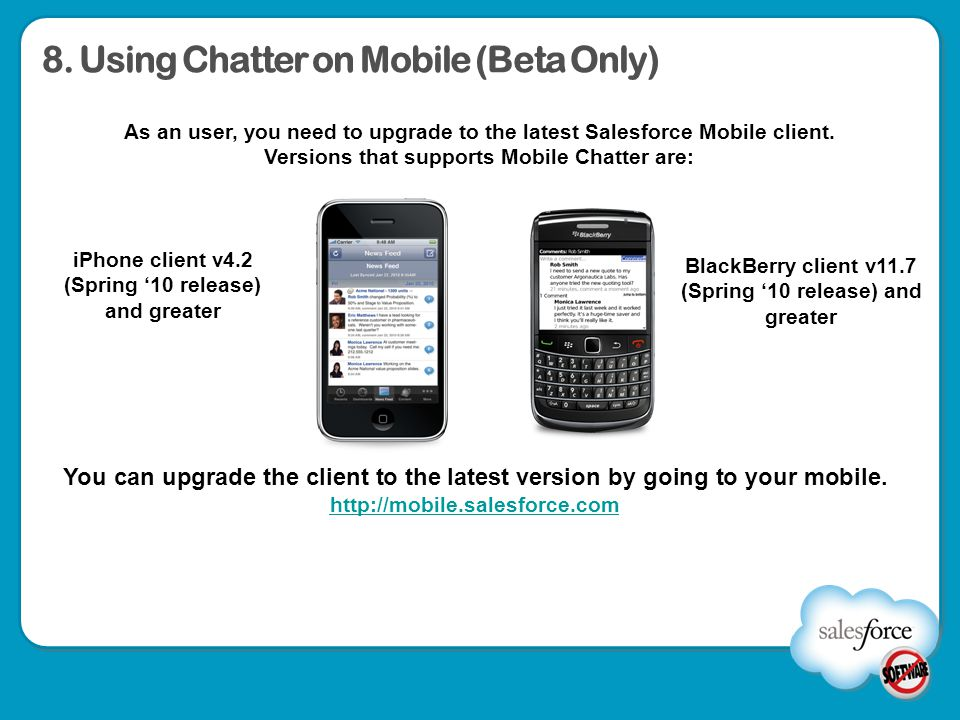 8. Using Chatter on Mobile (Beta Only)