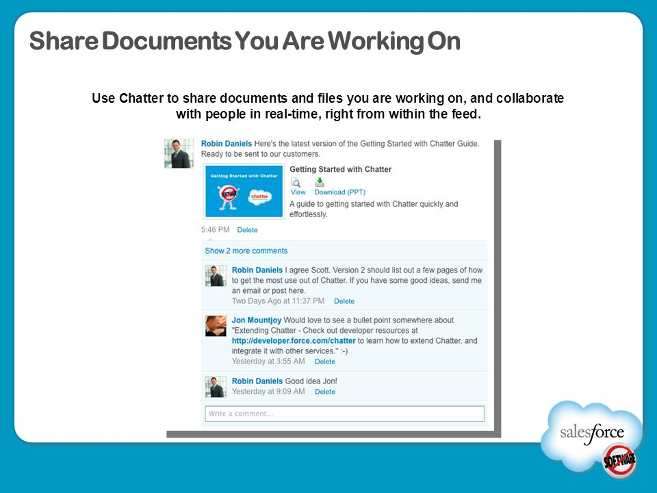 Share Documents You Are Working On