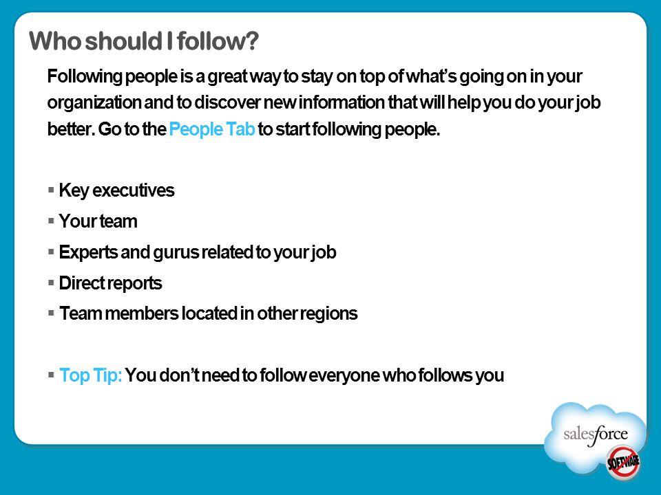 Who should I follow